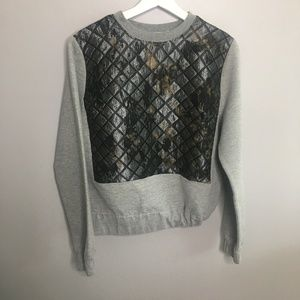 ASOS Grey Quilted Print Pullover #210